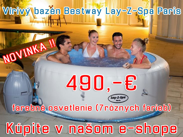 Vírivý bazén Bestway Lay-Z-Spa Paris